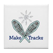 Make Tracks Tile Coaster