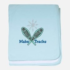 Make Tracks baby blanket
