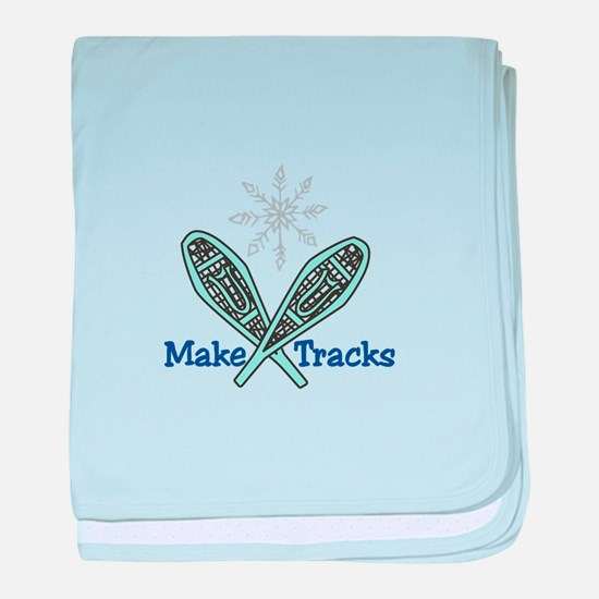 Make Tracks baby blanket