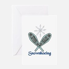 Snowshoeing Greeting Cards