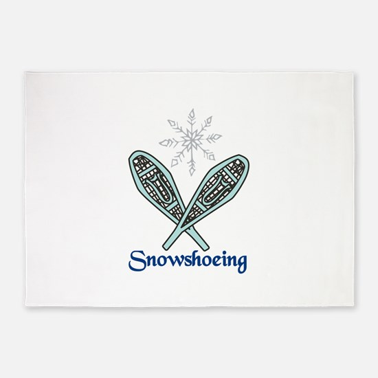 Snowshoeing 5'x7'Area Rug