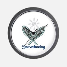 Snowshoeing Wall Clock