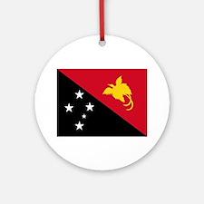 Papua New Guinea Flag Ornament (Round)