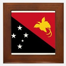 Papua New Guinea Flag Framed Tile