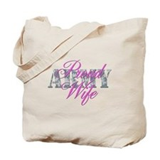 Proud Army Wife ACU Tote Bag