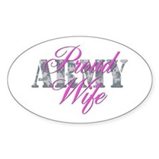 Proud Army Wife ACU Oval Decal