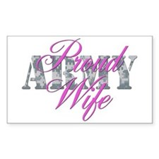 Proud Army Wife ACU Rectangle Decal