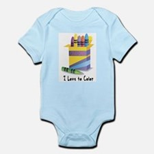 Jwish Kids Love To Color Infant Bodysuit