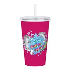 Hope and Winter Swim T Acrylic Double-wall Tumbler
