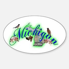 Michigan Oval Decal