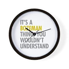 Its A Bozeman Thing Wall Clock