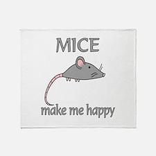 Mice Happy Throw Blanket