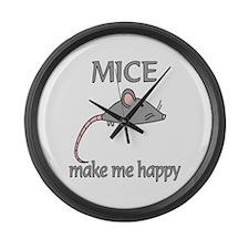 Mice Happy Large Wall Clock