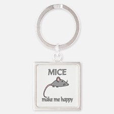 Mice Happy Square Keychain