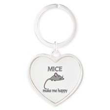 Mice Happy Heart Keychain