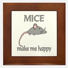 Mice Happy Framed Tile