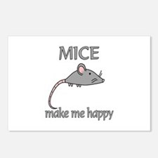 Mice Happy Postcards (Package of 8)