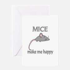 Mice Happy Greeting Card