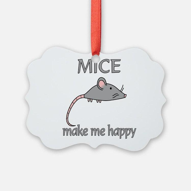 Mice Happy Ornament