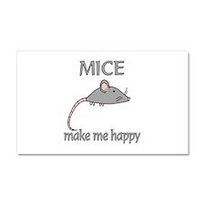 Mice Happy Car Magnet 20 x 12
