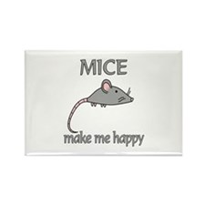 Mice Happy Rectangle Magnet