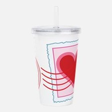 Love Letter Stamp Acrylic Double-wall Tumbler