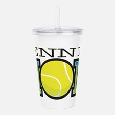 tennis_mom.png Acrylic Double-wall Tumbler
