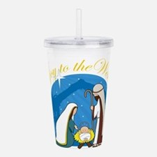 nativity scene cp.png Acrylic Double-wall Tumbler