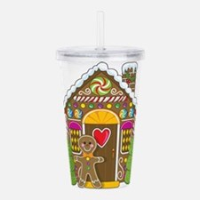 gingerbread house.png Acrylic Double-wall Tumbler
