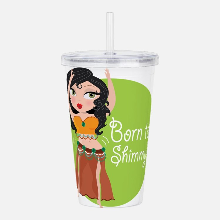 born to shimmy.png Acrylic Double-wall Tumbler