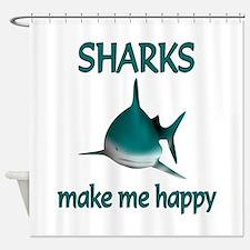 Shark Happy Shower Curtain