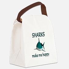 Shark Happy Canvas Lunch Bag