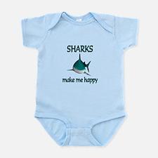 Shark Happy Infant Bodysuit