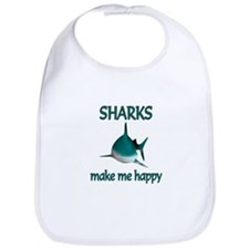 Shark Happy Bib