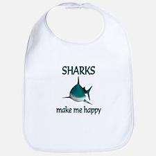 Shark Happy Bib