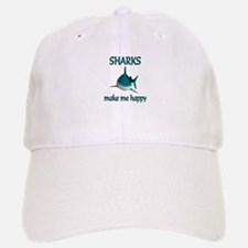 Shark Happy Baseball Baseball Cap
