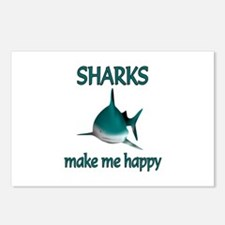 Shark Happy Postcards (Package of 8)