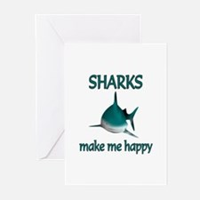 Shark Happy Greeting Cards (Pk of 10)
