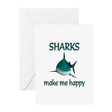 Shark Happy Greeting Card
