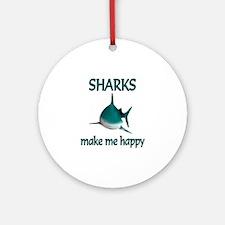 Shark Happy Ornament (Round)