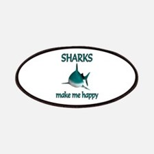 Shark Happy Patches