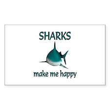 Shark Happy Decal