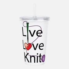 live_love_knit.png Acrylic Double-wall Tumbler