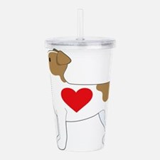 Jack Russell Terrier Acrylic Double-wall Tumbler