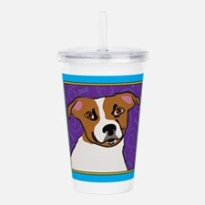 Jack Russell Cartoon Acrylic Double-wall Tumbler
