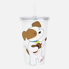 Cute Puppy Ukulele Acrylic Double-wall Tumbler