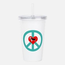 Peace Love Beagle Acrylic Double-wall Tumbler