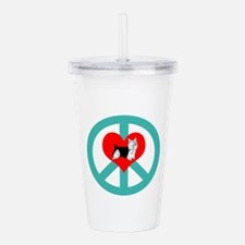 Peace Love Yorkie Acrylic Double-wall Tumbler