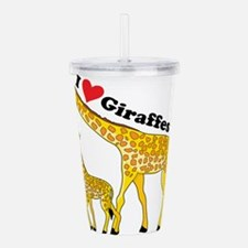 giraffe and baby cp.png Acrylic Double-wall Tumble