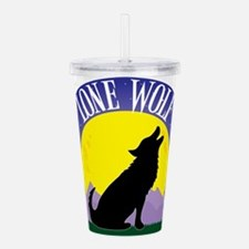 wolf and moon cp 2.png Acrylic Double-wall Tumbler